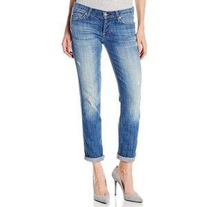 7FAM Button Fly Josefina Skinny Boyfriend Jeans